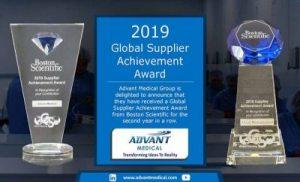 Advant Medical Awarded 2019 Global Supplier Achievement Award from Boston Scientific